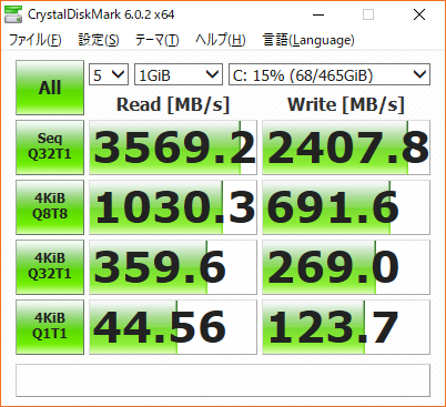 SSD Speed test After